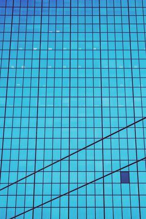 Skyscraper Pattern Windows Blue