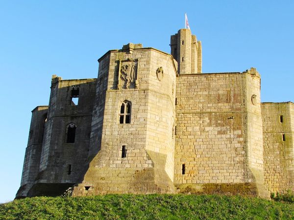 Northumberland Clear Blue Sky Sunset_collection Warkworth Castle Warkworth Clear Sky King - Royal Person Ancient Civilization Clock Tower Castle History Royalty