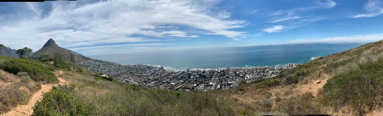 Panorama vom Signal Hill in Kapstadt, Südafrika Landscape Landschaft ShotOnIphone No Filter Kapstadt Cape Town Capetown Table Mountain Tafelberg Mountain Mountains And Sky Berge EyeEm Selects Sky Architecture Cloud - Sky Built Structure Nature Beauty In Nature Panoramic Outdoors Environment No People Scenics - Nature Day Land Tranquility High Angle View Building Building Exterior