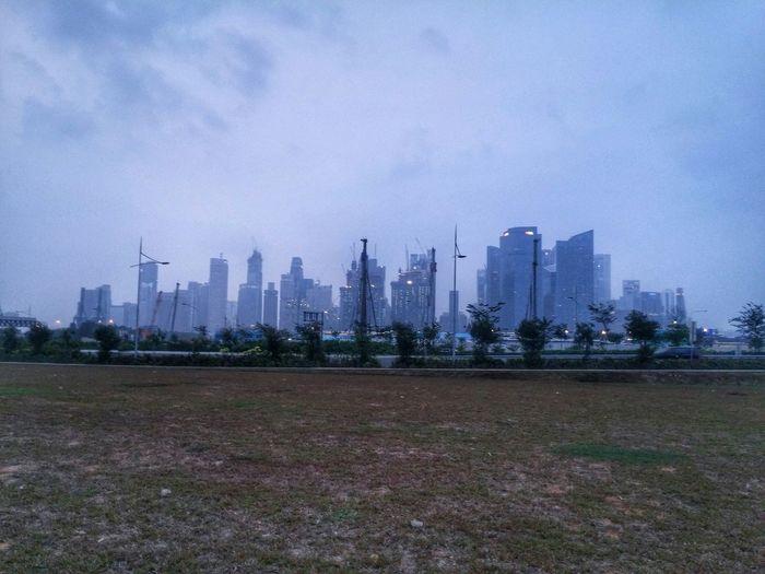 The haze was pretty bad 2 days ago. Haze Cityscapes Work LG G3
