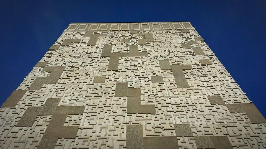 Mcardle UW Madison Tetris Blue Sky Blue Wave Architecture Tall Buildings Pattern Climbing Madison The Architect - 2017 EyeEm Awards