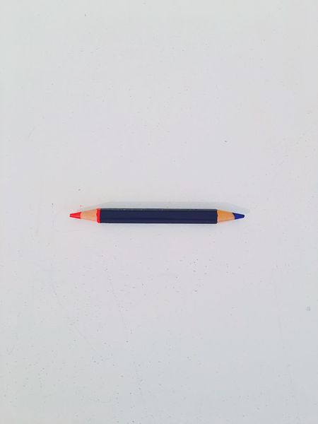 Color Colors Red Blue Pencil Work Working Studying