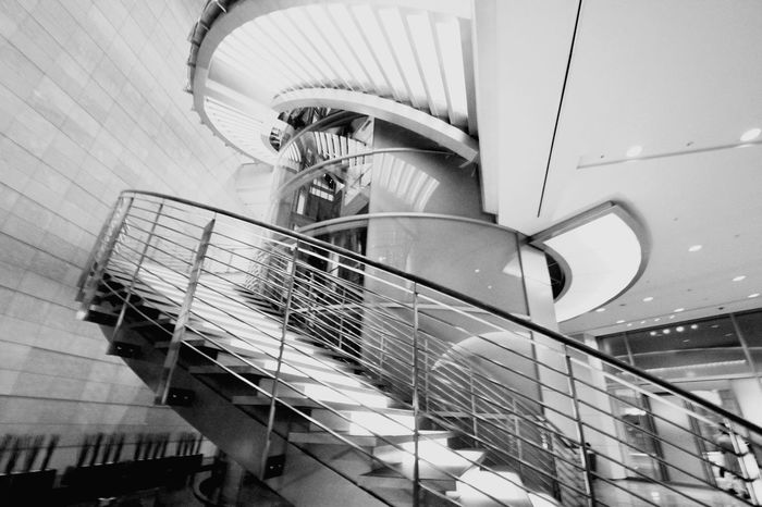 Staircase Architecture Steps And Staircases Indoors  Steel No People Spiral Staircase Day Blackandwhiteonly Black And White Collection  Blackandwhite Monochrome World Blackandwhitepics Low Angle View Blackandwhite Photography Blackandwhitephotos
