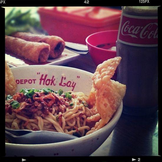 Pangsit Mie Ayam, Lumpia, & Fosco. It seems legit... Chinese Food