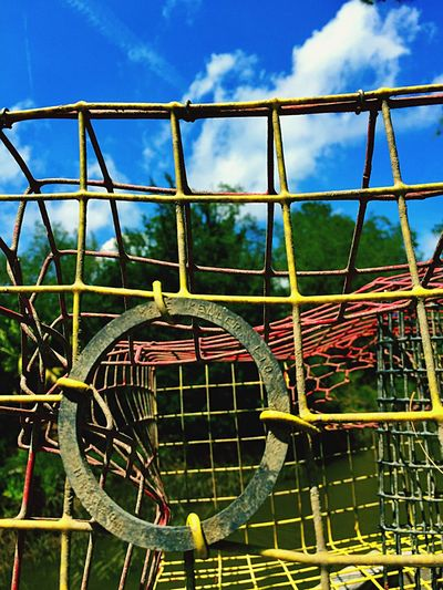 Crab Trap Yellow Crab Trap Crab Trap At Creek Old Crab Trap Wire Cage