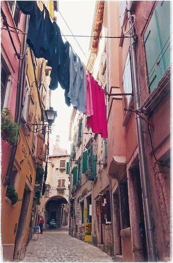 Streetphotography Streetlife Clothes Line Clothes Hanging Cityscapes Cityview Rovinj Croatia Croatiafulloflife Croatiawithlove