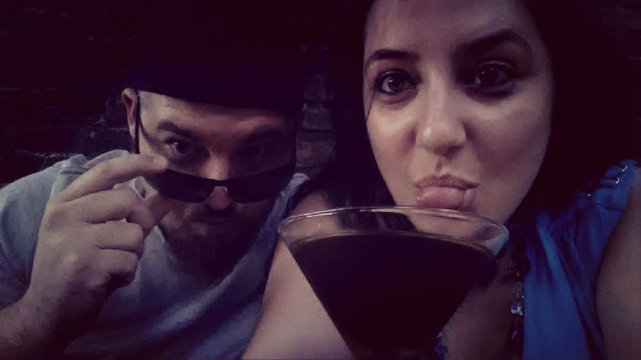 Me And My Babe ♡ Cocktails And Good Company. Drinking Cocktails Eye See You.....
