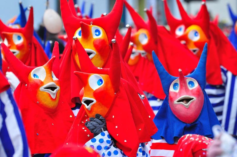 Carnival Colore Blue Costumes Day Fun Masks Parade