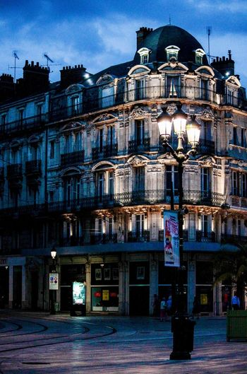 blue our in Orleans, France Abend Abendstimmung Architecture Architektur Blaue Stunde Building Built Structure City City Life Cloud - Sky Evening Façade Fassade France Frankreich Illuminated Lantern Laterne Light Orléans Sky Stadt Travel Travel Destinations