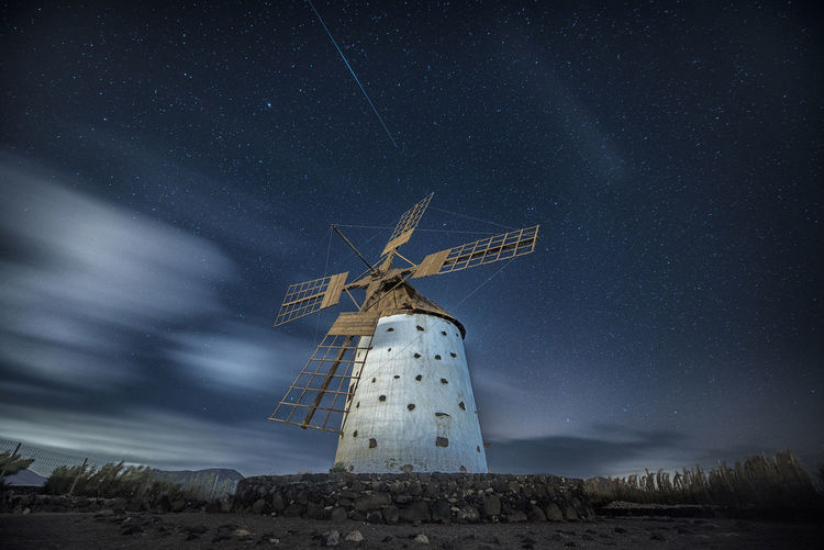 Cloud Iridium Nightphotography Nikon Windmill Long Exposure Night Night Sky