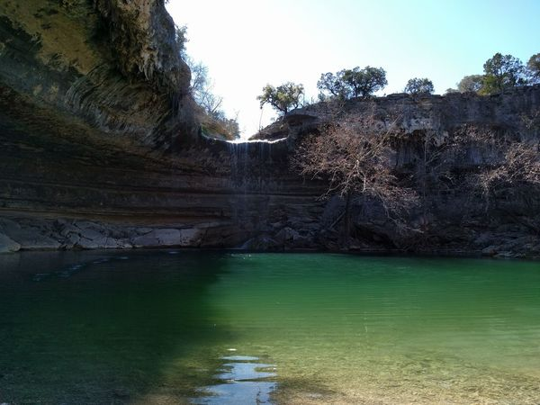 A Austin, TX Cliff Exploring Geology Hamilton Pool Natural Springs Nature Swimming Hole Texas Water