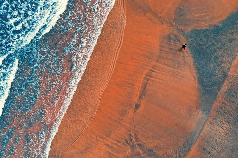 Land Day Sand Scenics - Nature Beauty In Nature Landscape Environment Desert Non-urban Scene Travel Nature Climate Arid Climate High Angle View Tranquil Scene Real People Tranquility Pattern Sand Dune Adventure