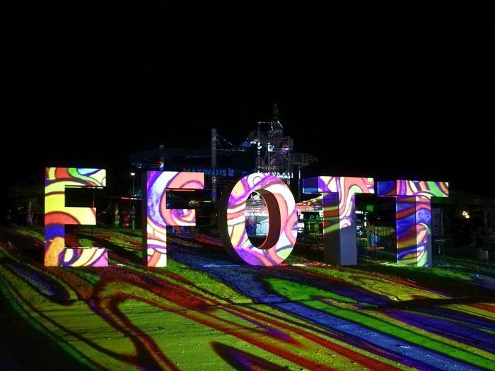 Night Illuminated Text No People Outdoors Nightlife Multi Colored Efott Festival Lightpainting EyeEmNewHere