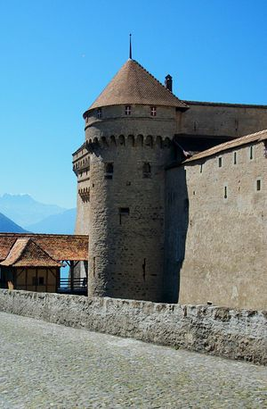 Chateau De Chillon Chillon Castle Chinon Geneva Geneva Lake Lake Of Geneva Switserland Switzerland Alps Architecture Blue Building Exterior Built Structure Chillonchateau Chilon Château De Chinon Clear Sky Day History Lake Landscape Nature No People Outdoors Prison Sky Switzerland Switzerlandpictures Switzerland❤️ Travel Destinations Veytaux Postcode Postcards