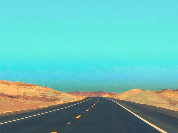 Lonelyroad Roadtrip Open Road Travel Desert Alone