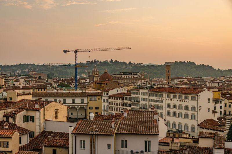 Sunset hour at florence - italy