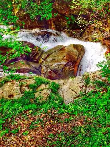 Upahead Close-up Flowing Motion Blur Rock - Object Stream Natural Beauty Creekside Trail Waterfalllovers Waterfall #water #landscape #nature #beautiful Nature Photography Japan Photography InKaratsu