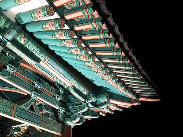 Gyungju Trip Korea Korea Royal Palace Low Angle View Pattern Night Built Structure