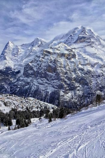 Eiger Moench Jungfrau Mürren Check This Out Taking Photos Weather Photography Landscape_photography Enjoying Life Clouds And Sky Snowy Mountains Weather Phenomenon Foehn Skiing Bernese Oberland Weather Eye4photography  Mountains EyeEm Best Edits EyeEm Best Shots EyeEm Nature Lover Snapseed Winter Skislope AlpineVillage Alps Switzerland