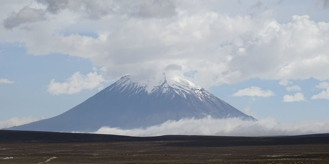 Arequipa Beauty In Nature Cloud - Sky Day Idyllic Landscape Misti Mountain Nature No People Outdoors People Peru Physical Geography Scenics Sky Tranquil Scene Tranquility Volcanic Landscape Volcano
