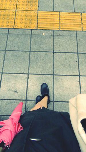 Tyhoon Rainy Days Raincoat Ambrella Pink Tokyo,Japan Japanese Style Myfoot Legs .