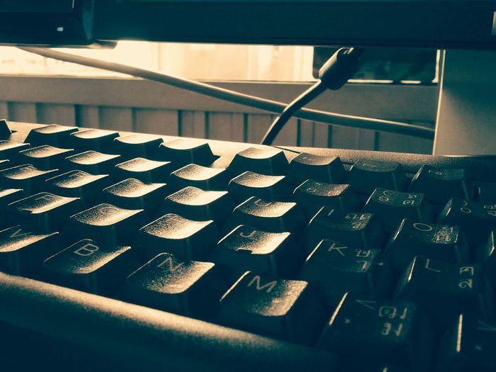 keyboard, vintage, vivid, computer