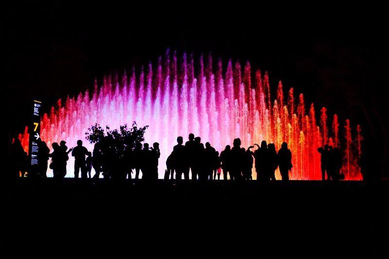 Lights show! Rainbow Fountain Rainbow Fountain Fuente Arcoiris Lights And Shadows Lights Parque De La Reserva Lima Lima-Perú Peru Peruvian