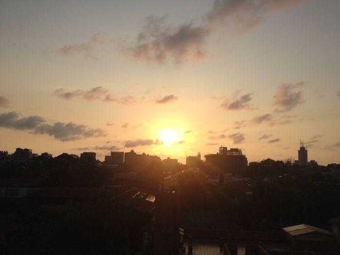 Evening Sun On A Break Sky Sunset