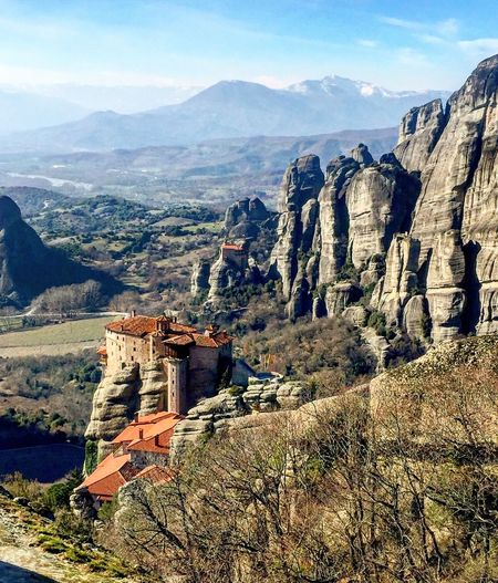 #meteora #kalampaka #greece Greece Kalampáka Meteora Mountain Nature Rock - Object Day Beauty In Nature Tranquility Travel Destinations