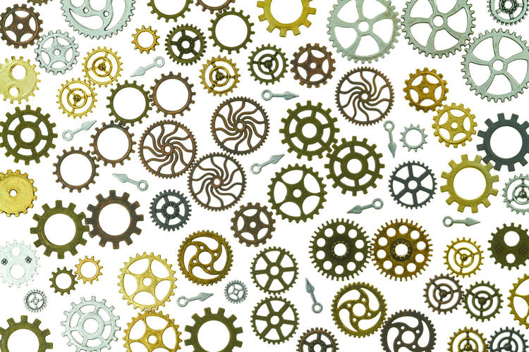 gears Abundance Backgrounds Biology Close-up Design Floral Pattern Full Frame Gears Green Color Growth Healthcare And Medicine Indoors  Large Group Of Objects Nature No People Pattern Research Science Shape Steampunk Still Life White Color