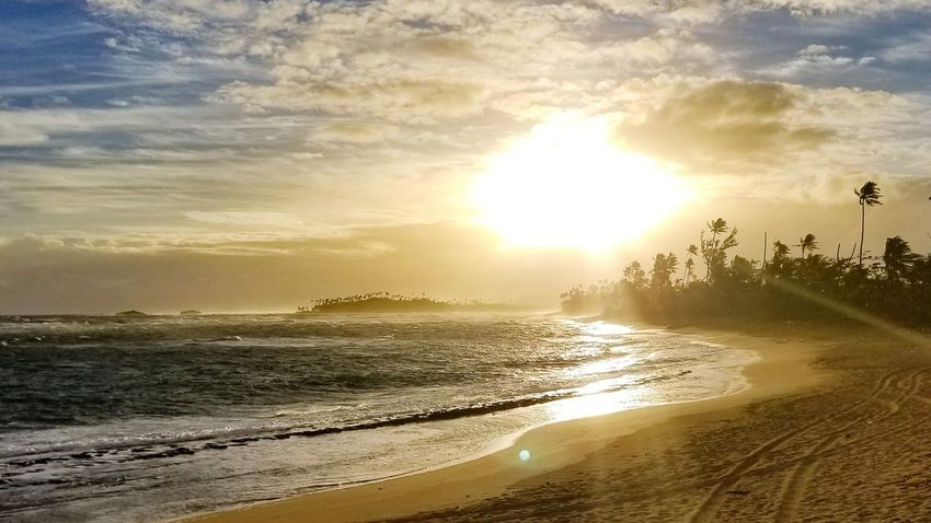 Caribbean Life Puerto Rico While Running Traning Morning Light Morning Sun Running Sunset Sunlight Beach Sunbeam Sea Sand Cloud - Sky Horizon Over Water Tranquility Travel Destinations Landscape Scenics No People Beauty In Nature Nature Outdoors
