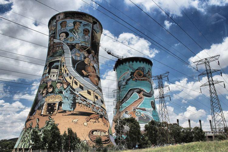 Art Gauteg Graffiti Art Orlando Towers Outdoors South Africa Soweto Towers SowetoSouthAfrica