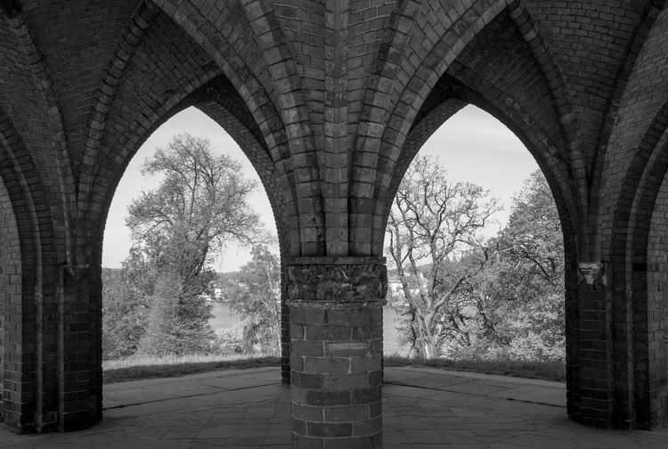 Arches of an old building