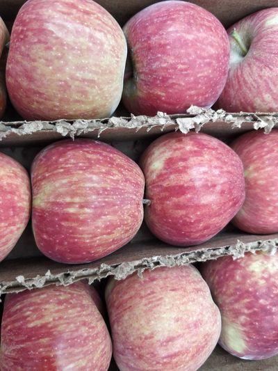 Full frame shot of apples for sale at market