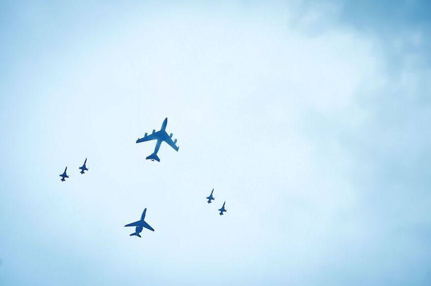 [ Lets Volt In ] Aircraft Airshow Formation Airplane Airbus A380 Art Is Everywhere