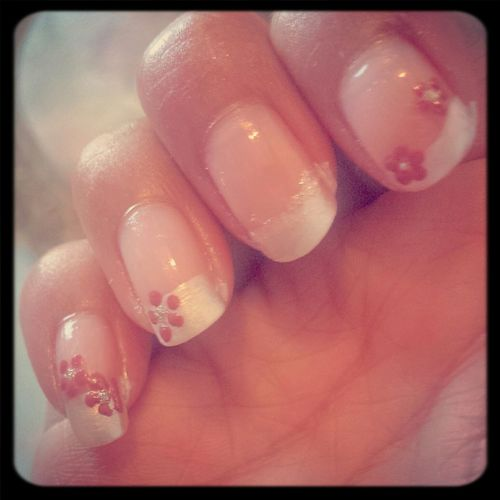 Relaxing Nailart  Flower French Manicure First Eyeem Photo