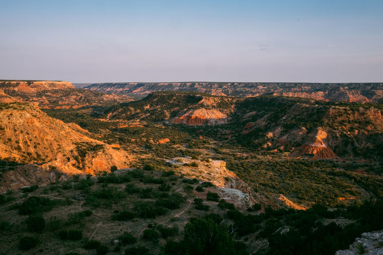 Scenics - Nature Beauty In Nature Tranquil Scene Sky Landscape Mountain Environment Tranquility Non-urban Scene Nature No People Rock Idyllic Plant Land Day Remote Travel Destinations Rock - Object Outdoors Formation Eroded Arid Climate Palo Duro Canyon, TX