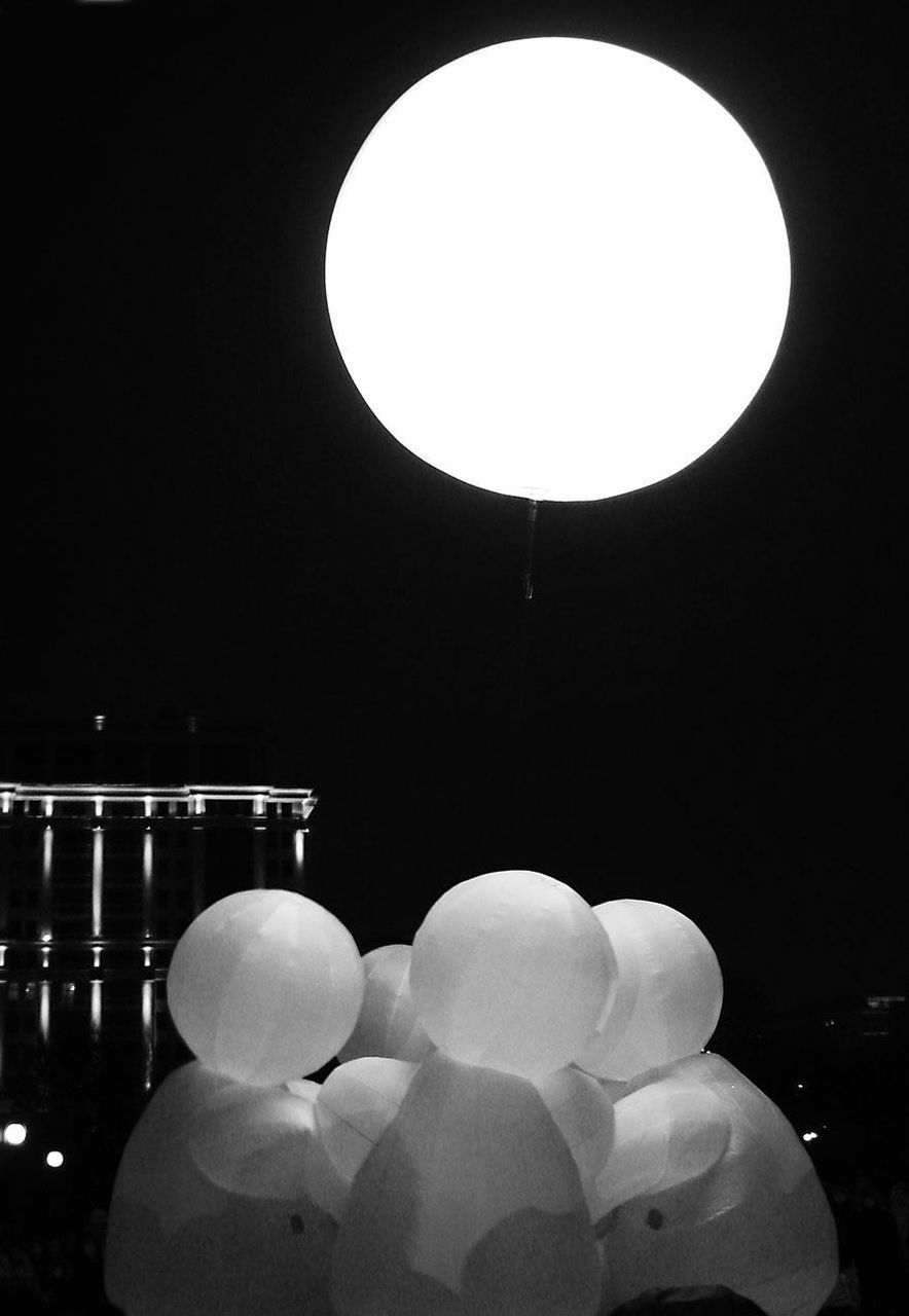 night, illuminated, no people, indoors, large group of objects, moon, close-up
