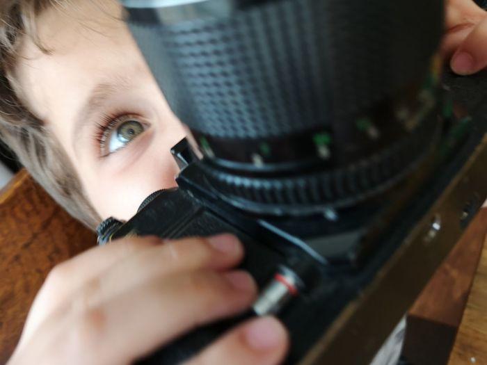 Camera Lens Young Women Human Hand Technology Close-up Iris - Eye Eyeball Biochemistry Looking Through An Object Mechanic