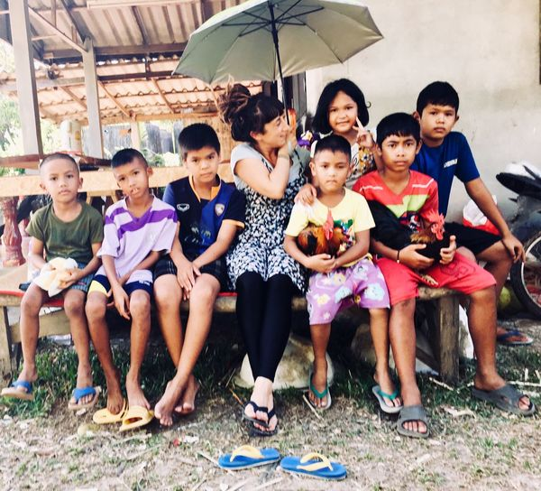 We are the children of a Ayaman🕊 Thailand Hill Tribe Child Childhood Group Of People Males  Boys Females Men Real People Togetherness Looking At Camera Medium Group Of People Portrait Offspring
