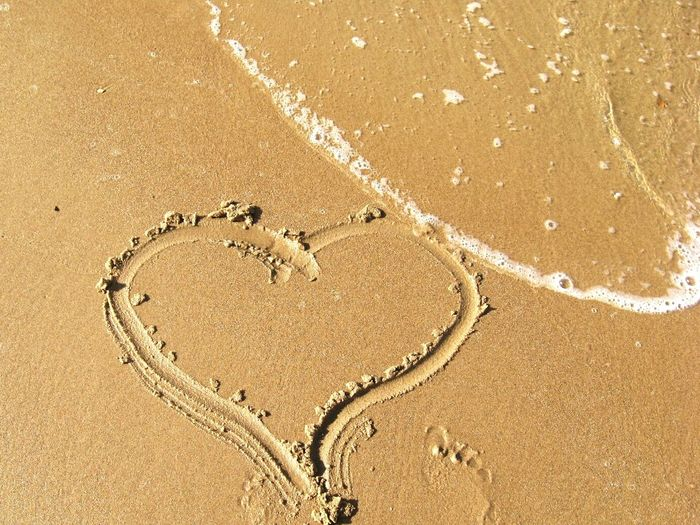 Sand & Sea Heart Feet Love Nature Love Sun море солнце волна песок рисунок на песке Beauty In Nature Wonderful Day Outdoors Wave Gold Sand Beach