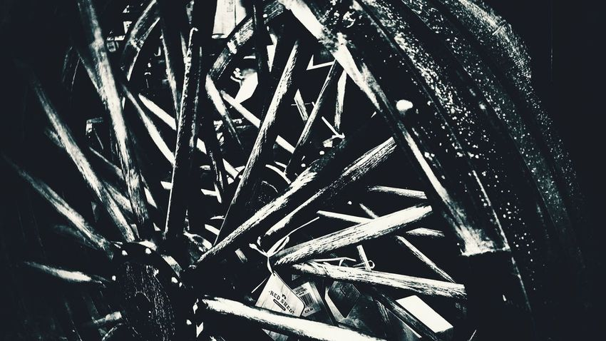 Close-up Spokes Spokesonwheel Round Round Shape Rounded Lines And Curves Man-made Structure Black And White Black And White Photography
