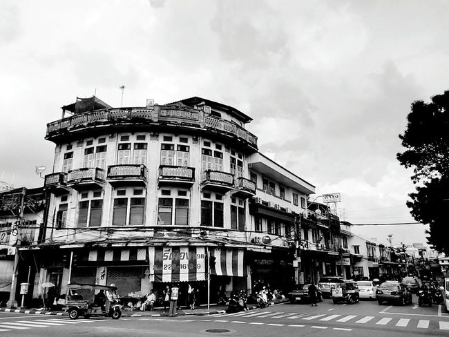 Building Commercial Building Old Building  Built Structure Architecture Building Exterior Building Collection Building Colors Building Photography View Landscape Building View Building Landscape Perspective Perspective View In Town People Texi Tricycle Black And White Black And White Photography Black And White Building Black And White Black And White View
