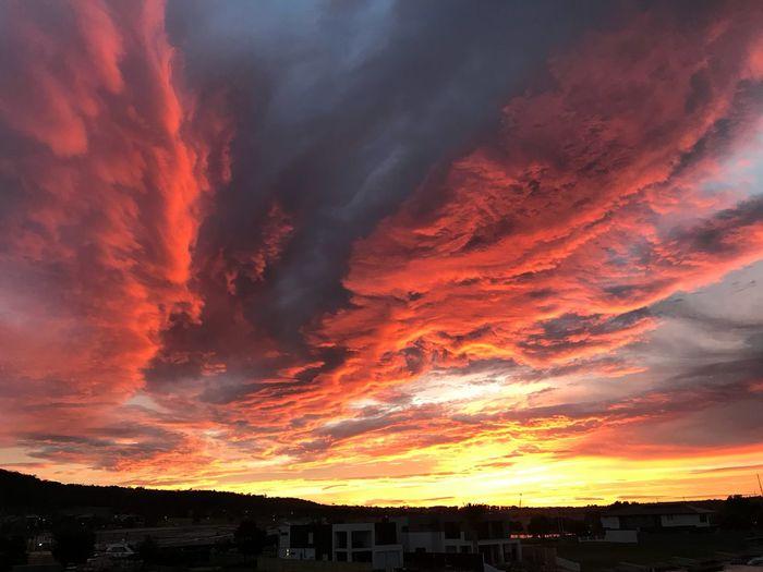 One of the best sunrises I've ever seen Sky Sunset Beauty In Nature Cloud - Sky Orange Color Scenics - Nature Dramatic Sky