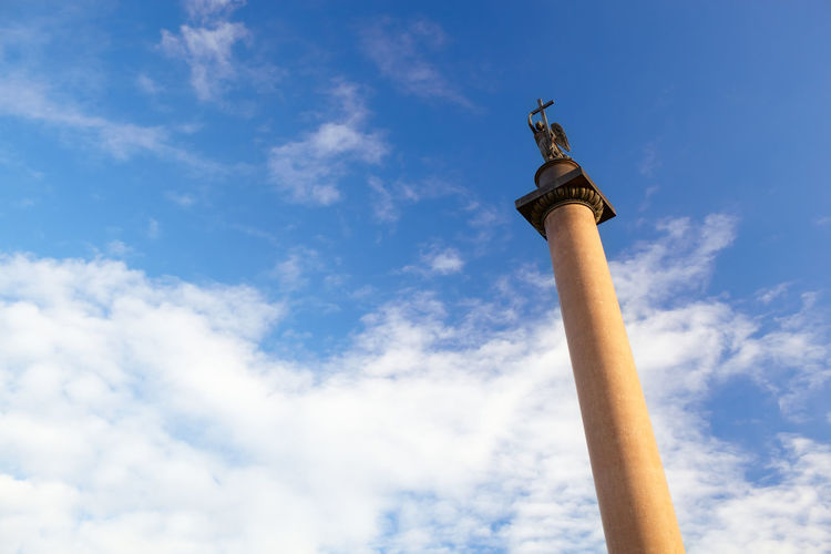 Alexander Column Architecture Art Baroque Architecture Built City Column Destinations Famous History Journey Monument Old Place Russian Sculpture St. Petersburg Summer Tourist