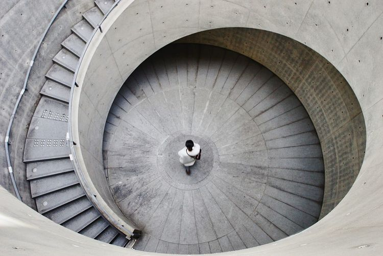 Journey Japan Kobe Architecture Built Structure Spiral Stairs