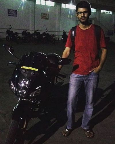 My saviour during the days I am in Hyderabad. It couldn't be so much fun and awesome rides throughout the Hyderabad without this Hero Karizma Solotrip Hyderabad Firststop HERO Karizma Birlatemple HillTopView Serenity Allaround _soi