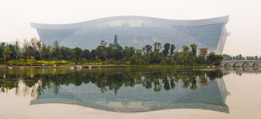 global center in chengdu Architecture Chengdu Chinese Architecture City Cityscape Global Center Reflection Lake Reflections And Shadows Tower