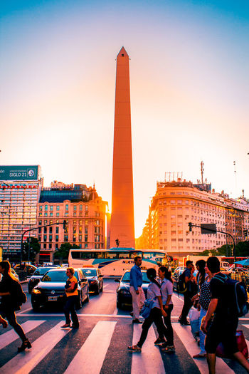 Architecture Buenos Aires Building Exterior Built Structure City Fernow Large Group Of People Obelisco, Buenos Aires 🌆 Person Urban Spring Fever