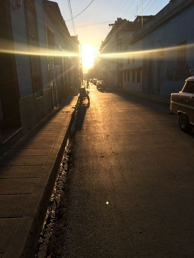 Cuba Transportation Sunset Sunlight Land Vehicle Public Transportation Sun Road Day